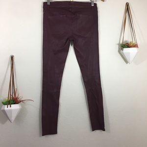 Current/Elliott Pants - NWT Current/ Elliot burgundy leather skinny pants